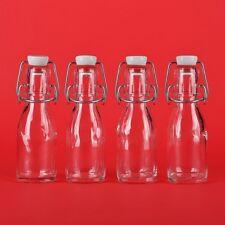 12 x Glasflaschen 100 ml mit Bügel-verschluss Bügel-Flasche mit 0,1 liter Draht