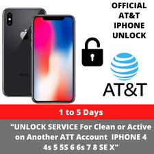 UNLOCK SERVICE Active on Another ATT Account  IPHONE 4 4s 5 5S 6 6s 7 8 SE X
