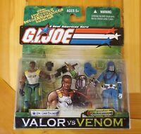 GI JOE Valor Vs Venom 2 Pack! LINK TALBOT/COBRA COMMANDER W/Multiple Masks! NIP!