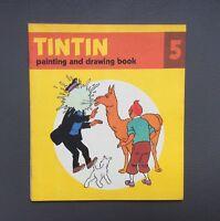 HERGÉ. Album à colorier Tintin N°5.Édition Anglaise Methuen children's book 1979
