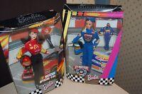 2 NASCAR Barbie Dolls Bill Elliott McDonalds Collector Edition 50th Anniversary
