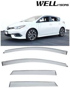 For 2016-2018 Toyota Corolla iM Scion iM Clip-On WellVisors Side Window Visors