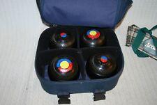 Lawn Bowls Set Taylor Rolph Tyrolite 4 3/4 Bias-Betra case 4 pack.