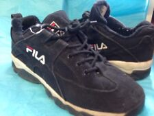 Gil's Size 8.5 8 1/2 Black Sneakers Red White Trim