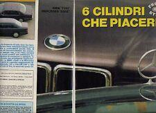 W24 Ritaglio Clipping 1987 BMW 730i e Mercedes Benz 300E