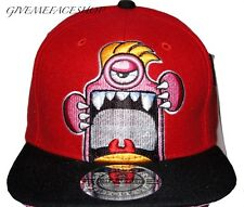 EXCLUSIVE MONSTER CARTOON SNAPBACK CAPS, FLAT PEAK BASEBALL FITTED HATS, BLING