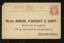 MEDICAL 1890 DUNCAN FLOCKHART DRUGGISTS QV STATIONERY STO SCOTLAND