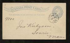 CANADA QV STATIONERY 1892 STO INSURANCE MUTUAL LIFE ASSOCIATION TORONTO