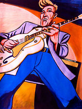 BRIAN SETZER PRINT poster rockabilly gretsch guitar orchestra stray cats cd amp