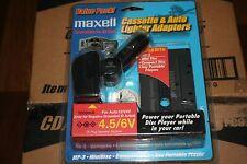 Maxell Cassette & Auto Lighter Power Adaptor  model #cd/ap1