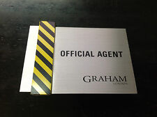 New Plate - Plaque GRAHAM London Official Agent - The British Masters New
