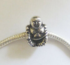 Antique Silver Buddha Charm Bead for Charm Bracelets