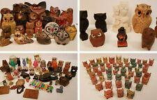 Vintage ÉNORME Lot + 130 Chouettes / Hiboux Collection Métal Bois Bronze Mexique