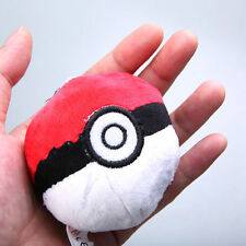 Cute Red Pokemon Poke Ball Plush Doll Mini Soft Stuffed Toys Keychain Gift 2.5in