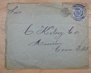 Mayfaristamps Colombia 1909 to Meriden CT Target Cancel Cover wwp10509