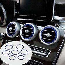 7 x Mercedes AMG Zierringe blau C-Klasse W205 GLC X253 Lüftungsringe Ringe TOP