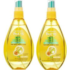 Garnier Fructis Miracle Dry Oil Triple Nutrition For Hair Body Face 2 Pack Lot