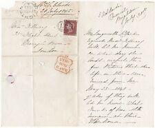 * 1845 Waterloo-ST Sub po Brighton Mme L Clarke à Tilbury l'Entrepôt à Londres