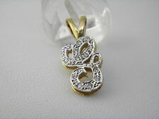 "14k YELLOW GOLD 0.25 TCW DIAMOND LETTER ""G"" PENDANT. #74"