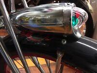 Chrome Bicycle Headlight Streamline Art Deco Columbia Schwinn  Cruiser headlight