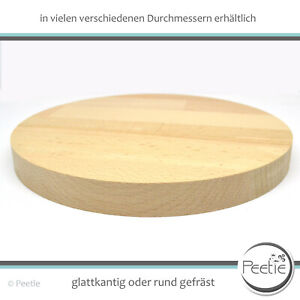 1x Holzscheibe Buche Leimholz 18 mm Holzrad rund Tischplatte Scheibe