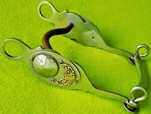 GORGEOUS Custom Made Vintage SILVER & Jeweler's Bronze Horse Show Bit~SWEET IRON
