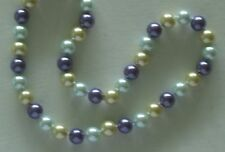 """10MM Multicolor #68 AAA South Sea Shell Pearl Necklace 18"""" NEW (with gift bag)"""