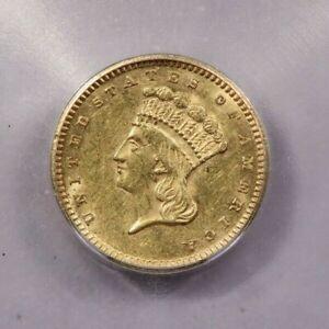 1874-P 1874 Indian Princess Gold Dollar ICG MS60 Details