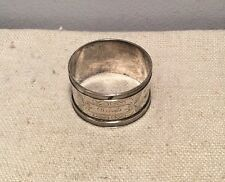 Antique Sterling Silver Bright Cut Napkin Ring 19.7g