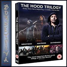 THE HOOD TRILOGY - Kidulthood -Adulthood-Brotherhood **BRAND NEW DVD BOXSET***