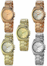 Relojes de pulsera de plata de oro rosa de mujer