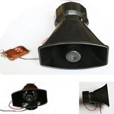 100W Car Warning Alarm Loud Police Fire Siren Horn PA Speaker System 3 Sound