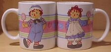 Raggedy Ann & Andy Candy Hearts Mug Coffee Cup New in Box