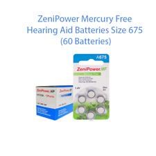 ZeniPower Size 675 Hearing Aid Battery 60 pcs Fresh Expires 2020