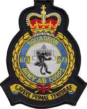 Numéro 673 Escadron Armée Air Corps AAC Inde écusson mod patch brodé