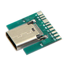 2pcs DIY 24pin USB 3.1 Type C Female Socket Connector SMT type with PC Board