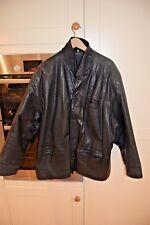 Leathermaster Black Leather Biker Style Jacket UK XL ?46-48
