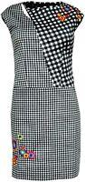 Desigual VEST ALESS REP Black & White Gingham Check Dress All Sizes