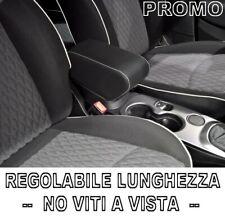 per FIAT 500X Bracciolo REGOLABILE nero CUCITURE BIANCHE Venditore professionale