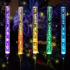 4x LED Farbwechsler solar Garten Beleuchtung Außen Steck Leuchte Wiesen Lampe DE