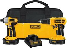 DEWALT Cordless Drill/Driver, Impact Driver, 18-Volt Batteries, Charger, Bag