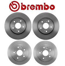 For Toyota Camry Avalon Front and Rear UV Coated Brake Disc Rotors Kit Brembo