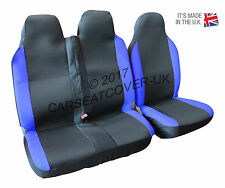 Toyota Proace (16 on) BLUE MotorRacing VAN Seat COVERS - Single + Double