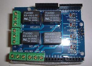 4 Channel Relay Shield Module for UNO / Mega2560  UK Seller