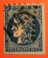 Céres émission de Bordeaux- N° 46 type III (TB-1230-1) Oblit Los GC 1945 Langon