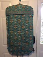 Vera Bradley Hanging Garment Clothing Travel Bag Totally Turq Excellent