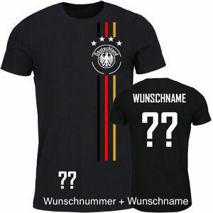 Trikot T-Shirt Fußball Kinder Trikot WM/EM Deutschland Trikot mit Streifen
