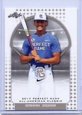 """JEREMIAH JACKSON 2017 """"1ST EVER PRINTED"""" LEAF PERFECT GAME AAC ROOKIE CARD!!"""