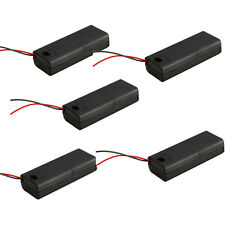 5Pcs Holder Box Case for 2 AAA 3A 3V Battery w/ON OFF Switch + Wire Leads+ Cover