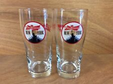 Budweiser New York City Statue Of Liberty Pint Glass Set of 2 NEW Glasses Rare